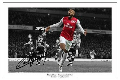 Thierry Henry The Return 2012 Arsenal Autograph Signed Photo Print Soccer
