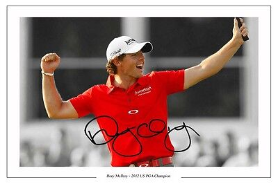 Rory Mcilroy Us Pga Champ Golf 2012 Signed Autograph Photo Print