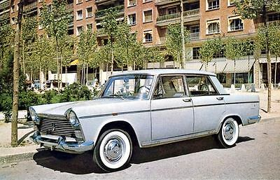 1966 Seat Fiat Berlina Lujo 1500 Factory Photo J3896