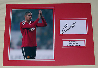 Chris Smalling Manchester United Hand Signed Autograph Photo Mount