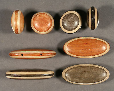 Two Tone Wood Beads Oval & Coin  Single & Double Drill -Cassia Bayong Cheesewood