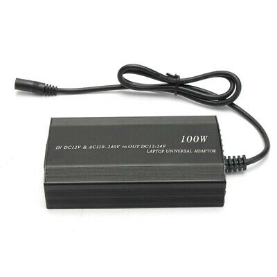 Universal Notebook Power Adapter Laptop W/ USB Charger Car Adapter 100W