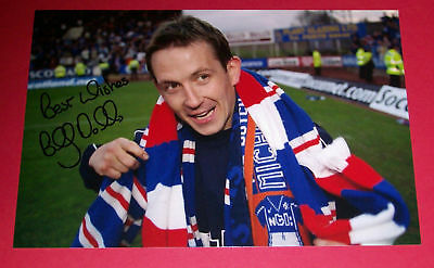 Billy Dodds Rangers Hand Signed Autograph 12X8 Photo