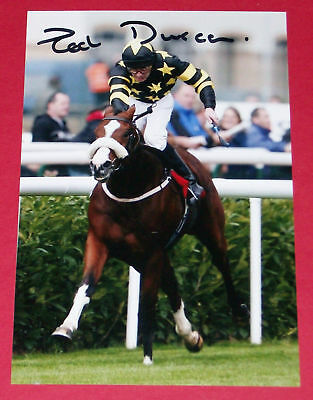 Ted Durcan Racing Hand Signed Autograph Photo