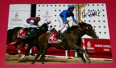 Frankie Dettori Electrocutionist Hand Signed 12X8 Photo 2006 Dubai World Cup
