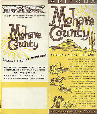 Arizona Points Of Interest Map.Mohave County Arizona Foldout Brochure Pictorial Map Photos Points Of Interest