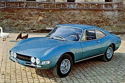 1969 Fiat Dino Berlinetta Pininfarina Factory Photo J4328