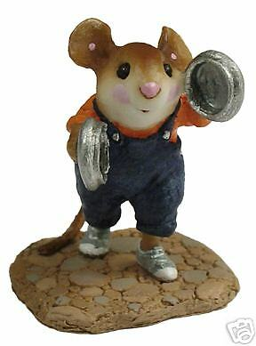 POT LID LAD by Wee Forest Folk, WFF# MP-5, Mouse Parade Series