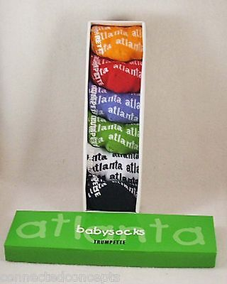 Trumpette Atlanta Baby Socks Set of 6 Pairs for an Infant (Size 0-12 Months) NEW