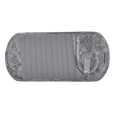 Car Sun Visor Gray Flower Print 11 CD Storage Phone Holder