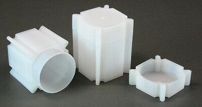 10 CoinSafe Square Coin Storage Tubes for Half Dollars