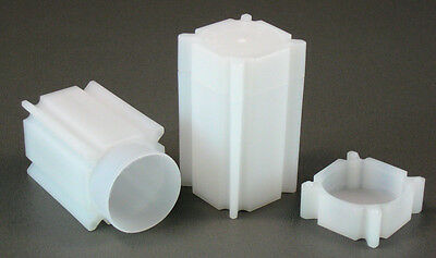 10 Square Coin Storage Tubes for Small Dollars SBA, SAC, Presidential