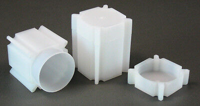 100 Square Coin Storage Tubes for Half Dollars by CoinSafe