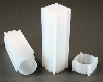 100 Square Coin Storage Tubes for Nickels by CoinSafe