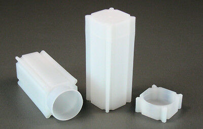 100 Square Coin Storage Tubes for Quarters by CoinSafe