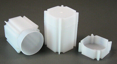 5 CoinSafe Square Coin Storage Tubes for Morgan,Peace,Eisenhower Silver Dollars