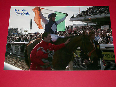 Barry Geraghty Kicking King Hand Signed 12X8 Photo 2005 Cheltenham Gold Cup