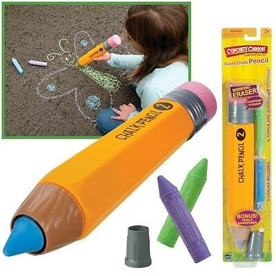 13 Inch Giant Chalk Pencil Writing Drawing Activity
