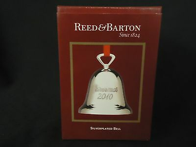 Reed & Barton 2010 Silverplated Christmas Bell - NEW IN BOX