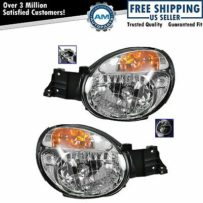 Headlights Headlamps Left & Right Pair Set NEW for 02-03 Impreza Outback WRX