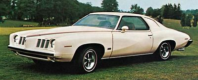 1973 Pontiac Grand Am Colonnade Hardtop Factory Photo J5349