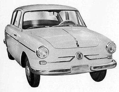 1956 Fiat 600 Pininfarina Factory Photo J5556