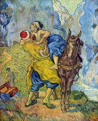The Good Samaritan by Vincent Van Gogh Giclee Fine Art Print Repro on Canvas