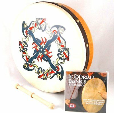 "WALTONS 12"" inch CLONMACNOISE Bodhran (10AWAL-P1936) includes DVD tutor + Beater"