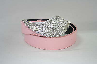 Ladies ANGEL WING Diamante Buckle + Belt. *DIFFERENT SIZES and COLOURS*