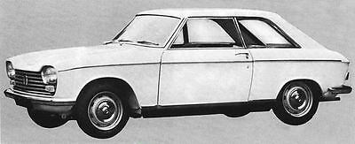 1967 Peugeot 204C Coupe Grand Luxe Factory Photo J5776