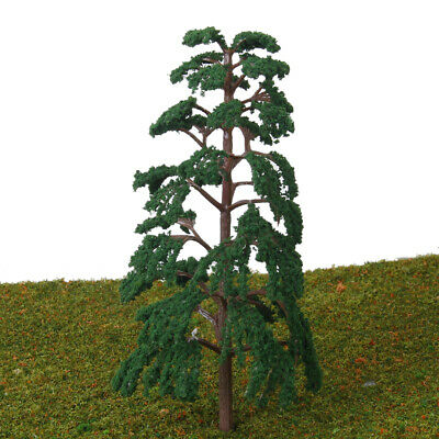5pcs 14cm Model Pine Trees for Architecture Train Railway Wargame Scenery Layout