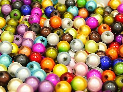 100 Pcs 3D Illusion Acrylic Miracle beads 8mm Spacer Pick Your Color