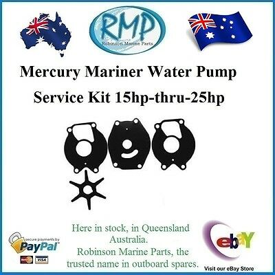 A Brand New Mercury Mariner Water Pump Kit 15hp-thru-25hp 1980-2014 # R 12107