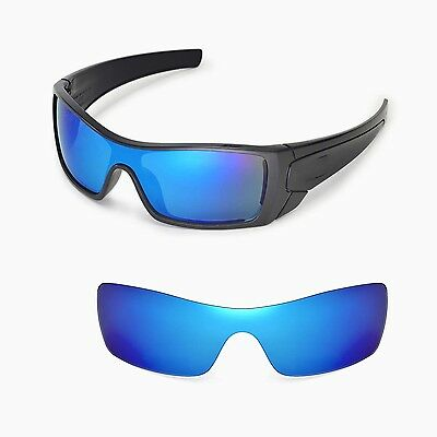 New Walleva Polarized Ice Blue Replacement Lenses For Oakley Batwolf Sunglasses