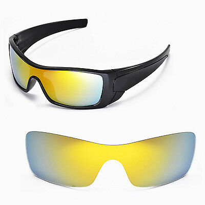 New Walleva Polarized 24K Gold Replacement Lenses For Oakley Batwolf Sunglasses