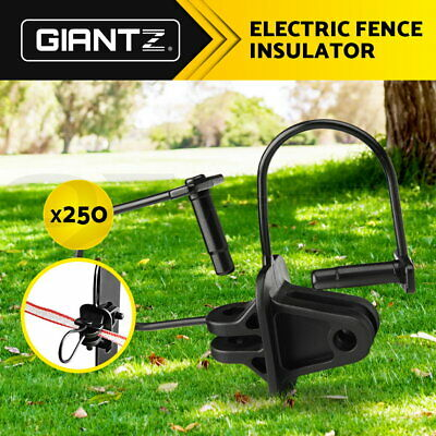 Giantz 250X Electric Fence Insulators Insulator Pinlock Energiser Insulation