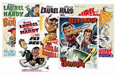 Laurel And Hardy - Set Of 5 - A4 Poster Prints # 2