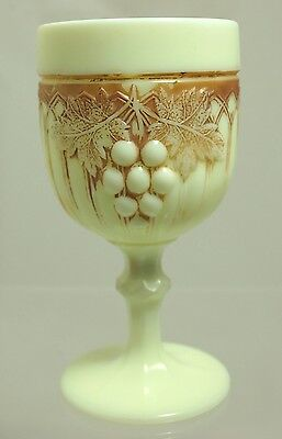 Northwood - Grape and Gothic Arches - Ivory (custard) Goblet