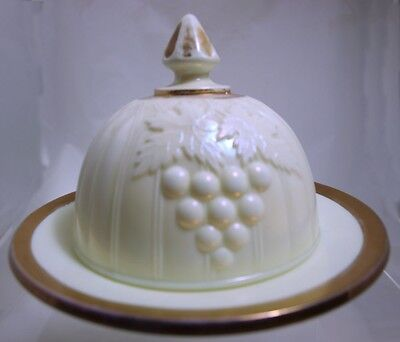 Northwood - Grape & Gothic Arches - Pearlized Covered Butter Dish