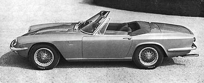 1968 Maserati Mistral Convertible Factory Photo J6148
