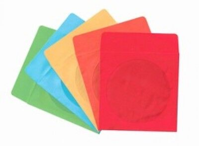 5000 Assorted Color Paper CD Sleeves with Window & Flap