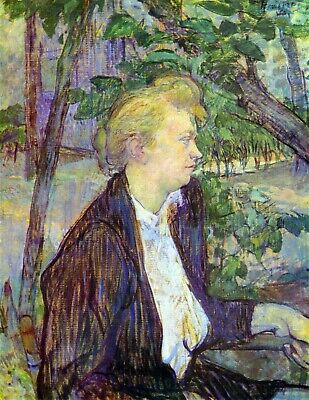 Woman in the Garden by Toulouse Lautrec Giclee Fine ArtPrint Repro on Canvas