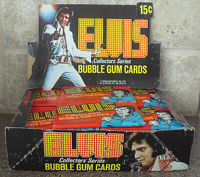 1978 Donruss Boxcar Elvis Presely King Full Unopened 36 Wax Packs Box Of Cards