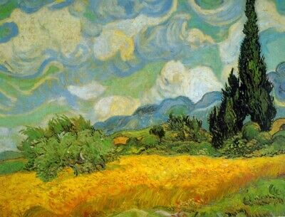 Cypresses by Vincent Van Gogh Giclee Fine Art Print Reproduction on Canvas