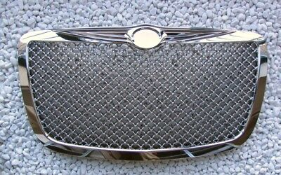 Voll Chrom Front Grill Kühlergrill Chrysler 300 300C Sport, Bentley Look Neuware
