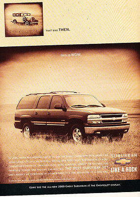 2000 1935 Chevy Suburban then ad now - Original Car Advertisement Print Ad J158