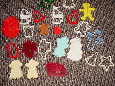 WOW - 23 OLD COOKIE CUTTERS - MOSTLY CHRISTMAS
