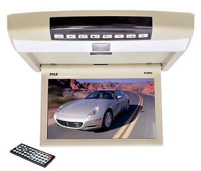 """NEW Pyle PLRD94 9.4"""" Roof Mount Monitor Built-In DVD CD USB SD Player + Remote"""