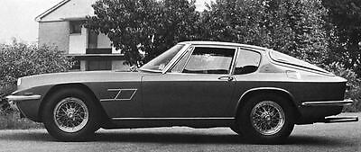1969 Maserati Mistral Coupe  Factory Photo J6518
