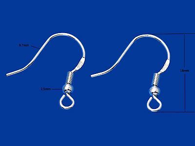 Solid 925 Sterling Silver French Wires Earring Hooks Jewellery Making Findings